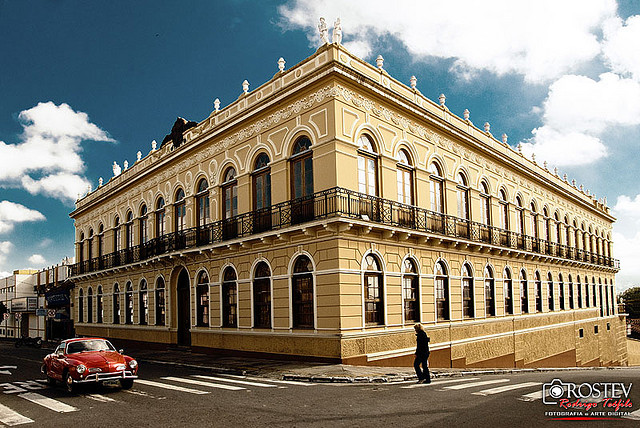 Palacete do então Barão da Palmeira, onde hoje funciona o Museu Histórico e Pedagógico D. Pedro I e Dona Leopoldina