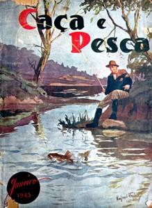 Revista Caça e Pesca ilustrada pelo artista Gaspar Falco