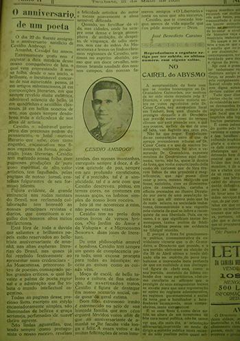 O Libertário, 21 de maio de 1925. Acervo DMPAH