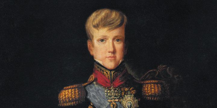 D. Pedro II aos 12 anos. Félix Émile Taunay