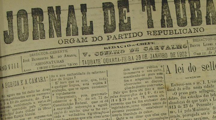 Jornal de Taubaté, 29 de janeiro de 1902. Acervo DMPAH