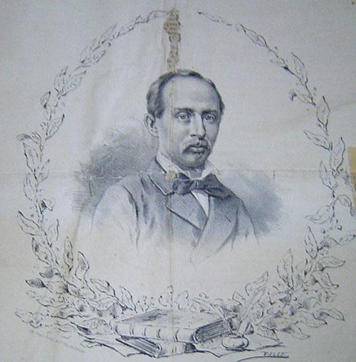 Conselheiro Antonio Moreira de Barros (patrono da Rua das Palmeiras) no jornal O Paulista, de 2 de dezembro de 1881. Acervo DMPAH