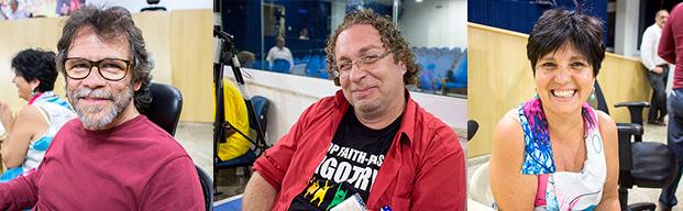 Marcos Meireles, Alexandre Villa e Carmen Batista