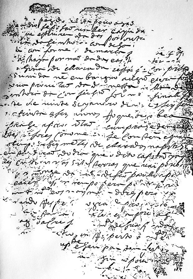 Fotocópia da provisão de 1639 dada a Jacques Felix para ocupação do Vale do Paraíba,