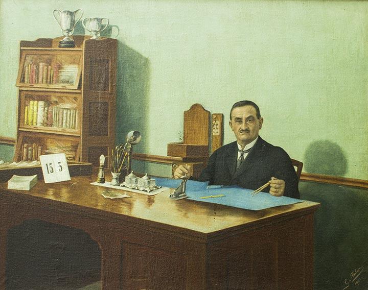 Felix Guisard retratado por Gaspar Falco. Acervo DMPAH