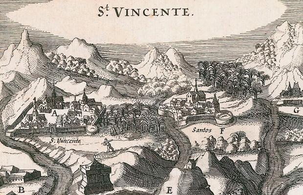 Baixada de São Vicente, gravura de 1624