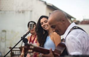 Renata, Lia e Negão Santos