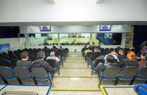 Galeria e plenário durante a audiência